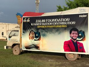 Distribution of rations Continues for seventh day under the Corona Relief Campaign by Zalmi Foundation